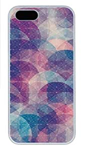 Abstract Circles Connected Dots Pattern Polycarbonate Plastic iPhone 5S and iPhone 5 Case Cover White hongguo's case