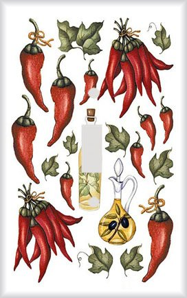 (Chilli Peppers and Oils Switchplate - Switch Plate Cover)