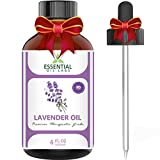 Essential Oil Labs Natural Therapeutic Grade Lavender Oil with Glass Dropper, 4 Ounce Bottle