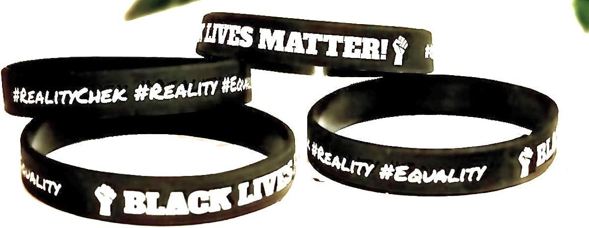 Details about  /100x Black Lives Matter BLM Silicone Wrist Band Bracelet Wristbands