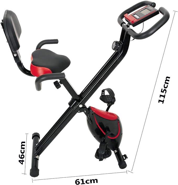 HLeoz Bicicleta Plegable magnética, Bicicleta Estática de Spinning ...