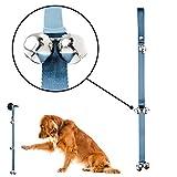 Mighty Paw Tinkle Bells, Premium Quality Dog Doorbells, Housetraining Doggy Door Bells for Potty Training (Grey)