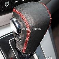 Black Genuine Leather Gear Shift Knob Cover for Honda CRV 2012 2013 2014 Automatic