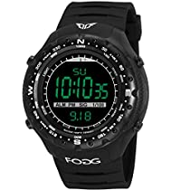 Fogg 8003 Black Digital Army Sports Watch - for Men