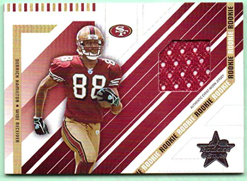 - Derrick Hamilton 2004 Leaf Rookies & Stars Rookie Worn Jersey Rookie #279 - 712/750 - San Francisco 49ers