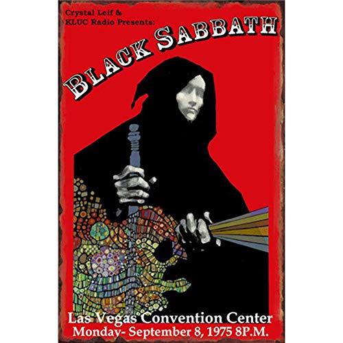 Easy Painter Vintage Bar Tin Signs Metal Music Poster Garage Shop Home Man Cave Wall Decoration - Black Sabbath 20X30Cm
