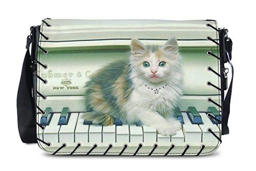 chat piano le Bandoulière sur Sac 5wvRqn