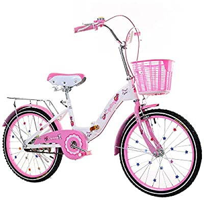 LINGS Foldable Bicycle Kids' Bikes 22 inch Single Speed Children's Bicycle 6-14 Years Old Student Bicycle Female Folding Bicycle: Home & Kitchen