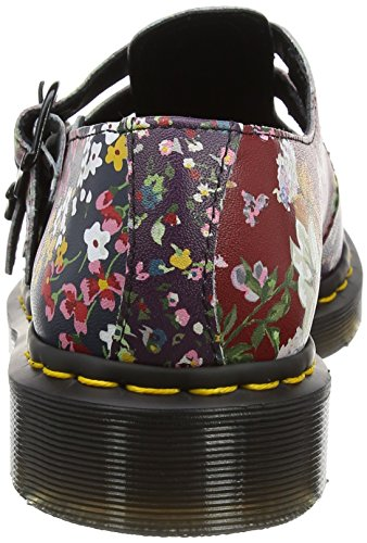 Dr. Martens Damen 8065 Fc Mary Jane Halbschuhe, Multi Mehrfarbig (Multi Floral Mix Backhand)