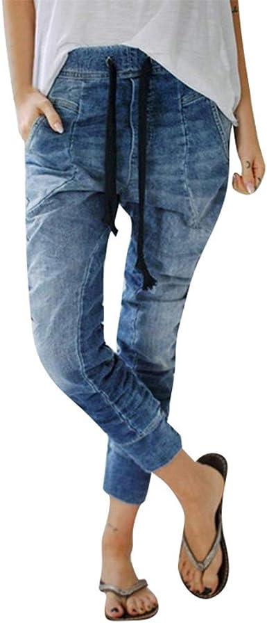 FNKDOR Jean Femme Taille Haute Grande Taille, Stretch Skinny