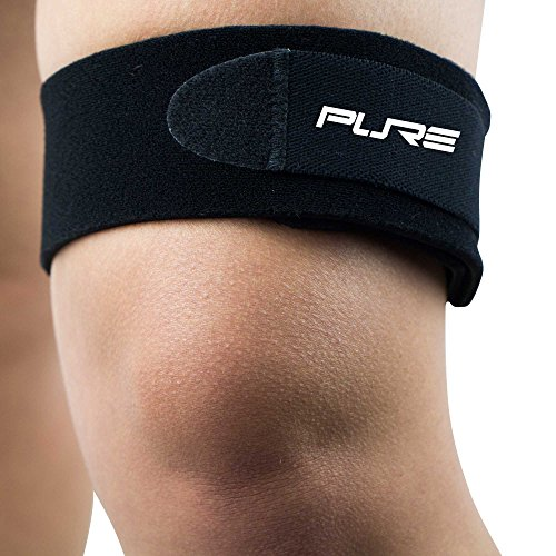 IT Band Strap for Knee - Helps Relieve Knee Pain from Running - ITB Runners Knee, Iliotibial Band, Compression Strap Neoprene (S/M, Black)