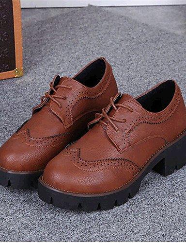 Marrone sneakers a grigio plataforma di ZQ eu35 us8 exterior cn34 grigio cn39 eu39 semicuero negro us5 creepers mujer uk6 Hug casual Grigio uk3 moda Scarpe la 60YIanY