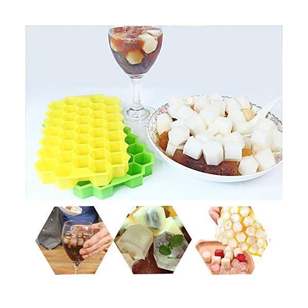 Vassoi per cubetti di ghiaccio Confezione da 2 stampi per cubetti di ghiaccio in silicone per alimenti con coperchio… 7 spesavip