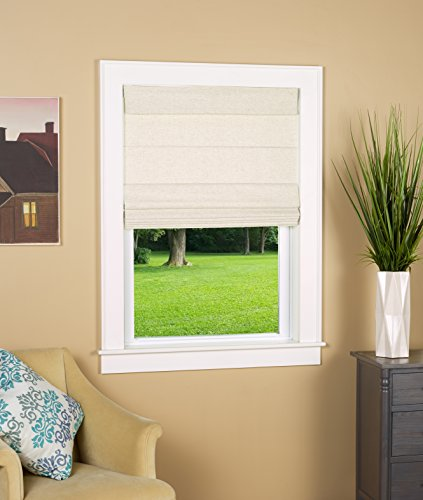 North Country Window Wear Cordless Thermal Backed Top Down Bottom Up Roman Shade 32