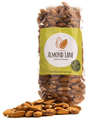 Almond Lane | Whole Raw Almonds | California Grown | All Natural & Non-GMO | Steam Pasteurized (1 Bag) ()