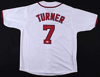 cheap for discount 30aa0 96f02 Trea Turner Autographed Jersey (Washington Nationals) - JSA ...