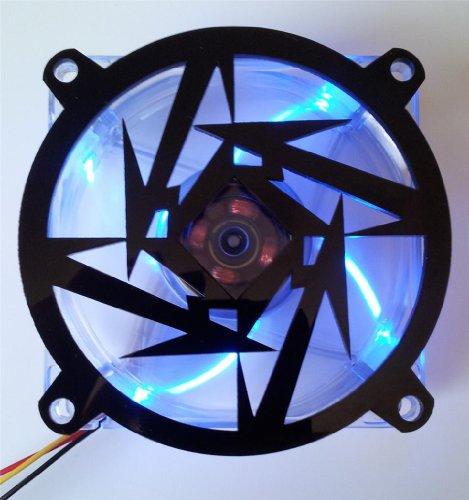 Custom Acrylic Metallica Star Computer Fan Grill 92mm