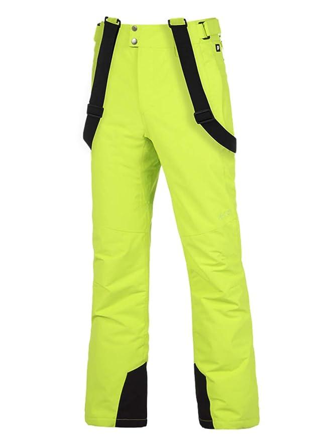Pantalón de esquí para hombre de color amarillo fosforito