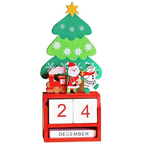 RyanLemon Advent Calendar Christmas Advent Calendar for Kids Wood Advent Calendar Christmas Trees 2017 (Santa Claus) by RyanLemon