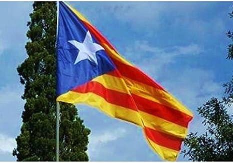 Cataluña bandera gigante satinado, 230 x 150 cm, diseño bandera indépendantiste Estelada.: Amazon.es: Hogar