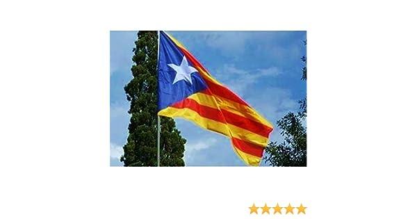 Cataluña bandera gigante satinado, 230 x 150 cm, diseño bandera ...