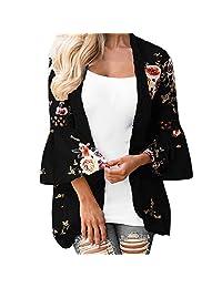 Women Lace Floral Open Cape Loose Blouse kimono Jacket Cardigan