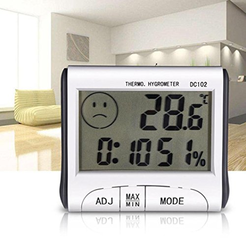 Liraly Mini Digital Thermometer Humidity Meter Room Temperature Indoor LCD Hygrometer