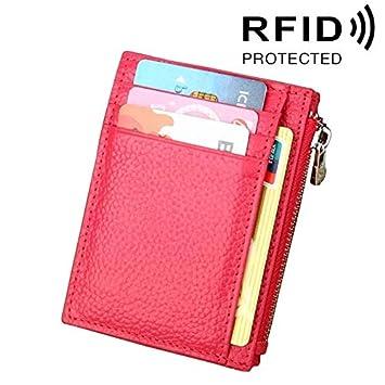 Carteras Monedero con Cremallera a Todo Color con Clip RFID ...