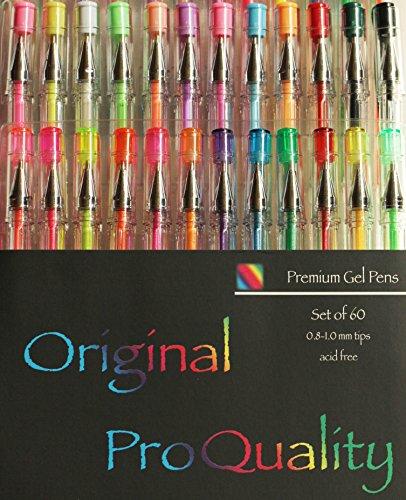 Original Pro Quality Gel Pens - Set of 60 by Holisouse