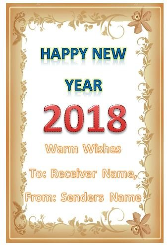 personalised new year card