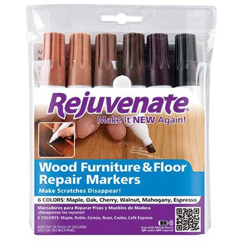 Rejuvenate Wood Furniture & Floor Repair Markers Make Scratches Disappear in Any Color WoodMegaPACK 3Pack (6Count)
