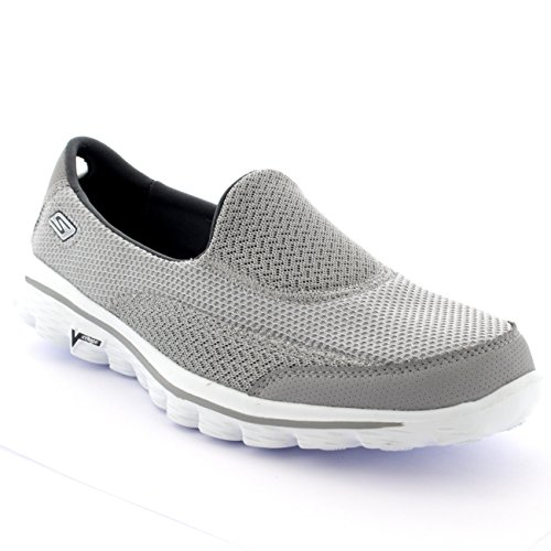 Womens Skechers Go Walk 2 Walking Exercise Active Casual Sports Sneakers - Gray - 7