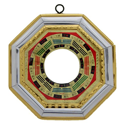 Divya Mantra Feng Shui Bagua Mirror Convex for Positive Energy-9X9 cm Others Multi
