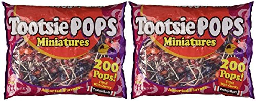 Miniature Tootsie Pops (200 pc) -Pack of 2