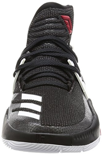 adidas D Lillard 3, Scarpe da Basket Uomo Nero (Negbas/Neguti/Ftwbla)