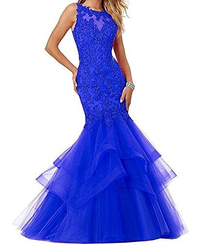 Abendkleider Neu Festlichkleider Ballkleider Rot Charmant Meerjungfrau Elegant Blau Damen Royal Langes 1 Spitze 2018 WvxZIq