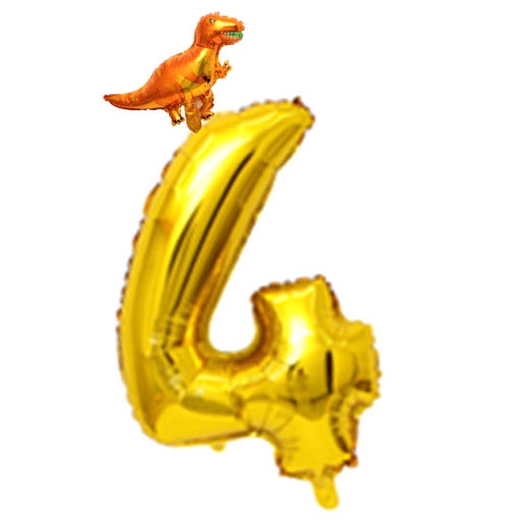 FLAMEER Mini Dinosaurio Globo Número 0-9 Adornos de Pared para ...