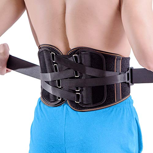 King of Kings Lower Back Brace Pain Relief with Pulley System - Lumbar Support Belt for Women and Men - Adjustable Waist Straps for Sciatica, Spinal Stenosis, Scoliosis or Herniated Disc - Large (Acute Lower Back Pain Treatment At Home)