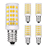 Albrillo E14 LED Bulb 4.5W, 60W Equivalent Small Edison Screw Light Bulbs Warm White 3000K, 5 Pack [Energy Class A+]