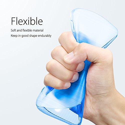 SLEO Funda para Samsung Galaxy J5 2017 [European Version] Slim Fit TPU Carcasa de Parachoques Case Traslúcido Suave con Absorción de Impactos y Resistente a los Arañazos para Samsung Galaxy J5 2017 [E Azul
