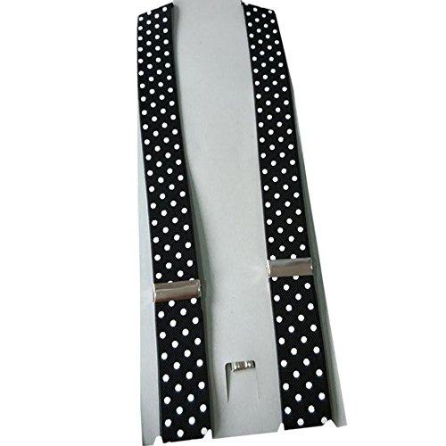 YING LAN Kids Men and Women Adjustable Elastic Dot Printing Suspender