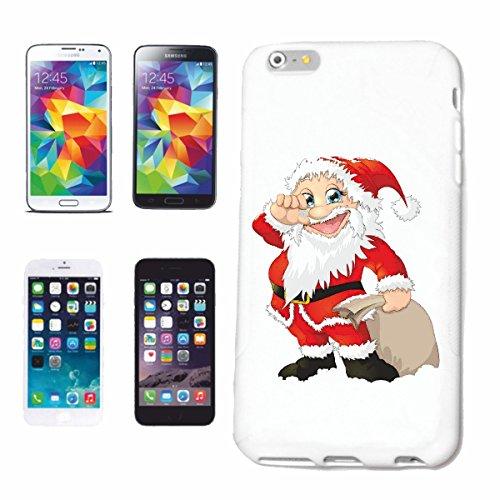 """cas de téléphone iPhone 7 """"SANTA CLAUS AVEC SACK NICHOLAS NOËL CHRISMAS SANTA CLAUS"""" Hard Case Cover Téléphone Covers Smart Cover pour Apple iPhone en blanc"""