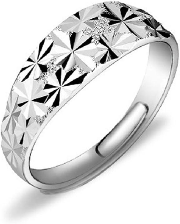 de plata de ley 925 diseño de rosa Anillo de compromiso ajustable HMILYDYK