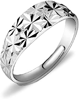 Foxnovo Womens Ladies S990 Sterling Silver Sparkling Starry Adjustable Finger Ring