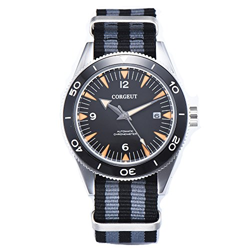 Debert 41mm Corgeut Sandwich Dial Sapphire Glass Ceramic Bezel Lume Automatic Men's Watch