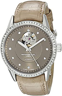 Raymond Weil Women's 2750-SLS-70081 Freelancer Analog Display Swiss Automatic Beige Watch