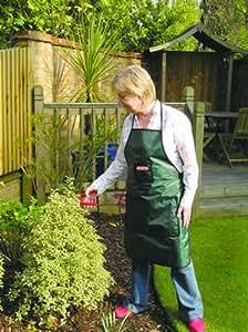 Bosmere G320 - Delantal para jardinería con 3 bolsillos y cintura ajustable (PVC con refuerzo de poliéster), color verde