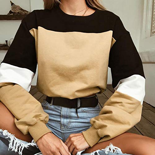 d'pissure Femme Chic Kaki T Shirt Manches Haut AIMEE7 Casual Longues Pas Sweat Cher Tops x7U5IOq
