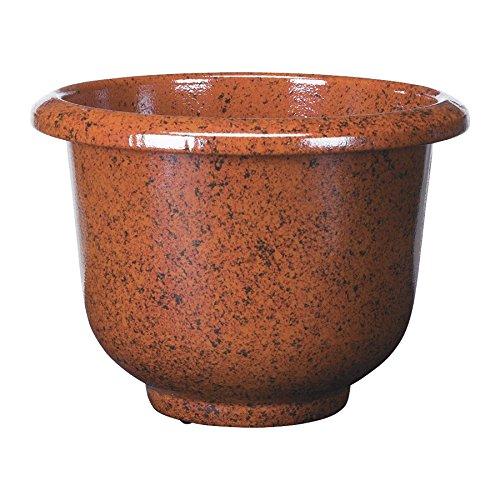 Novelty Round Glazetone Planter, 12-Inch, Cocoa