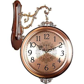 Relojes de pared Relojes Retro Doble Cara Sala De Estar Reloj Grande De Dos Caras Reloj ...